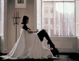 Art print by Jack Vettriano. 'In Thoughts of You' posters and prints.
