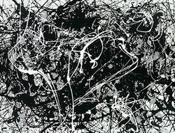 Jackson Pollock prints ' Number 33 (Silkscreen print) ' Abstract expressionist art print.
