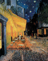 Vincent van Gogh art print 'Cafe Terrace at Night' Landscape art print by King and McGaw