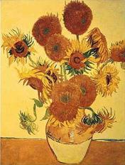 Vincent van Gogh art print 'Sunflowers on Gold (large)' still life prints by King and McGaw