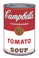 Andy Worhol artist. ' Campbell's Soup I: Tomato, 1968 ' Modern art posters and prints.