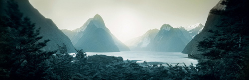 Landscape art print from New Zealand. 'Mitre Peak' Photographic art prints. Steffen Jahn