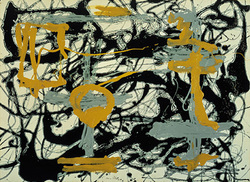 Jackson Pollock prints ' Number 12A, Yellow,Grey,Black ' Abstract expressionist art print.