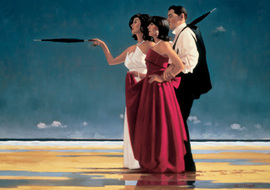 Picture,  Art print by Jack Vettriano. 'The Missing Man I' posters and prints.