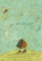 Picture, Landscape, walking, Love and Dog prints 'I Just Can't Get Enough of You' Gift art prints by Sam Toft