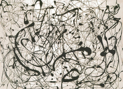 Jackson Pollock prints ' Number 14: Gray ' Abstract expressionist art print.