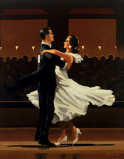 Art print by Jack Vettriano. 'Take this Waltz' posters and prints.