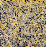Jackson Pollock prints ' No. 4, 1949 ' Abstract expressionist art print.