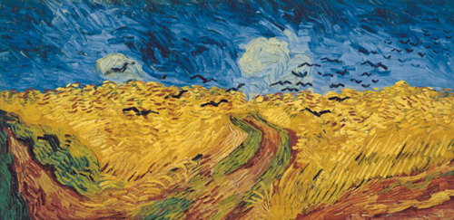Vincent van Gogh art print 'Wheatfield with Crows, 1890' Landscape art print by King and McGaw