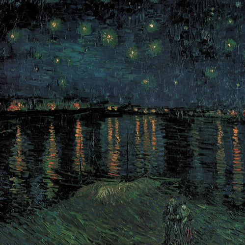 Vincent van Gogh art print 'Starlight over the Rhone (detail)' classic prints by King and McGaw