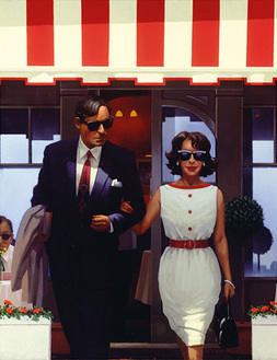 Art print by Jack Vettriano. 'Lunchtime Lovers' posters and prints.