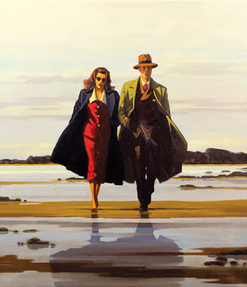 Art print by Jack Vettriano. 'The Road to Nowhere' posters and prints.