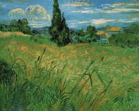 Vincent van Gogh art print 'Green Wheat Fields' Landscape art prints by King and McGaw