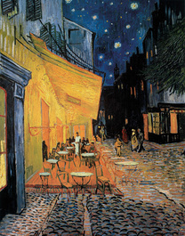 Vincent van Gogh art print 'Cafe At Night' landscape prints by King and McGaw