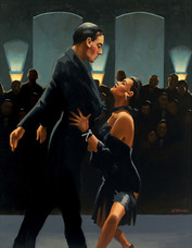 Art print by Jack Vettriano. 'Rumba in Black' posters and prints.