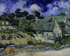 Vincent van Gogh art print 'Straw-decked houses in Auvers-sur-Oise' classic prints by King and McGaw