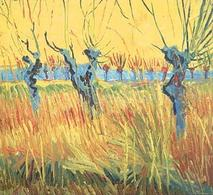 Vincent van Gogh art print 'Pollarded Willows and Setting Sun, 1888' seascape prints by King and McGaw