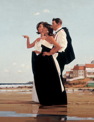 Art print by Jack Vettriano. 'The Missing Man II' posters and prints.