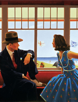 Art print by Jack Vettriano. 'Edith and the Kingpin' posters and prints.