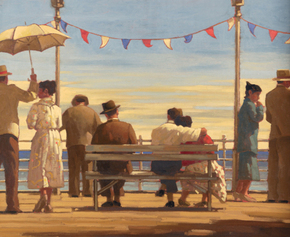 Art print by Jack Vettriano. 'The Pier' posters and prints.