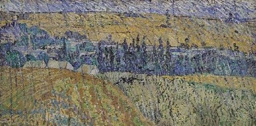 Vincent van Gogh art print 'Rain at Auvers' landscape prints by King and McGaw
